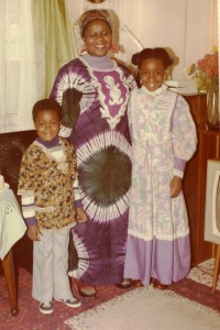 Jay as a boy with his sister and their mother