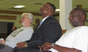 Union members watching the third presidential debate, Columbus, Ohio. Photo: Jay Mukoro